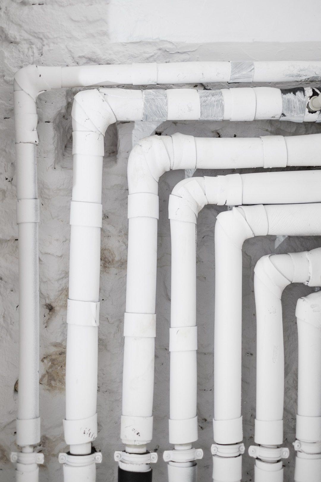 tuyaux d'eau chaude