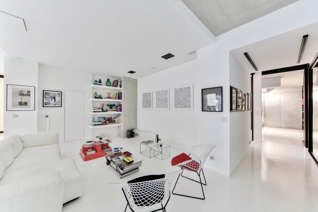 décoration de salon blanc