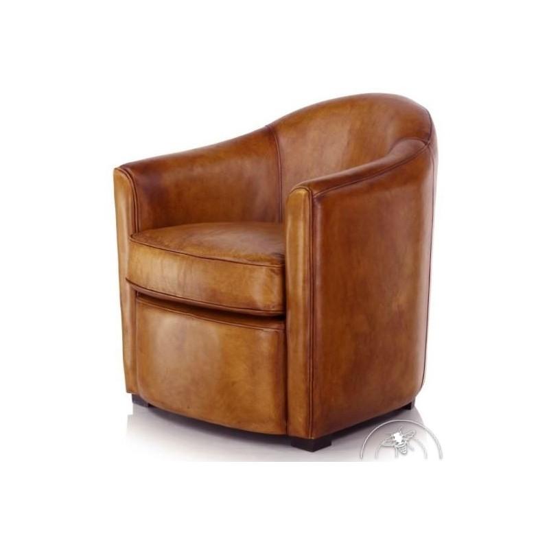 fauteuil-club-cuir-marron-clair-fumoir
